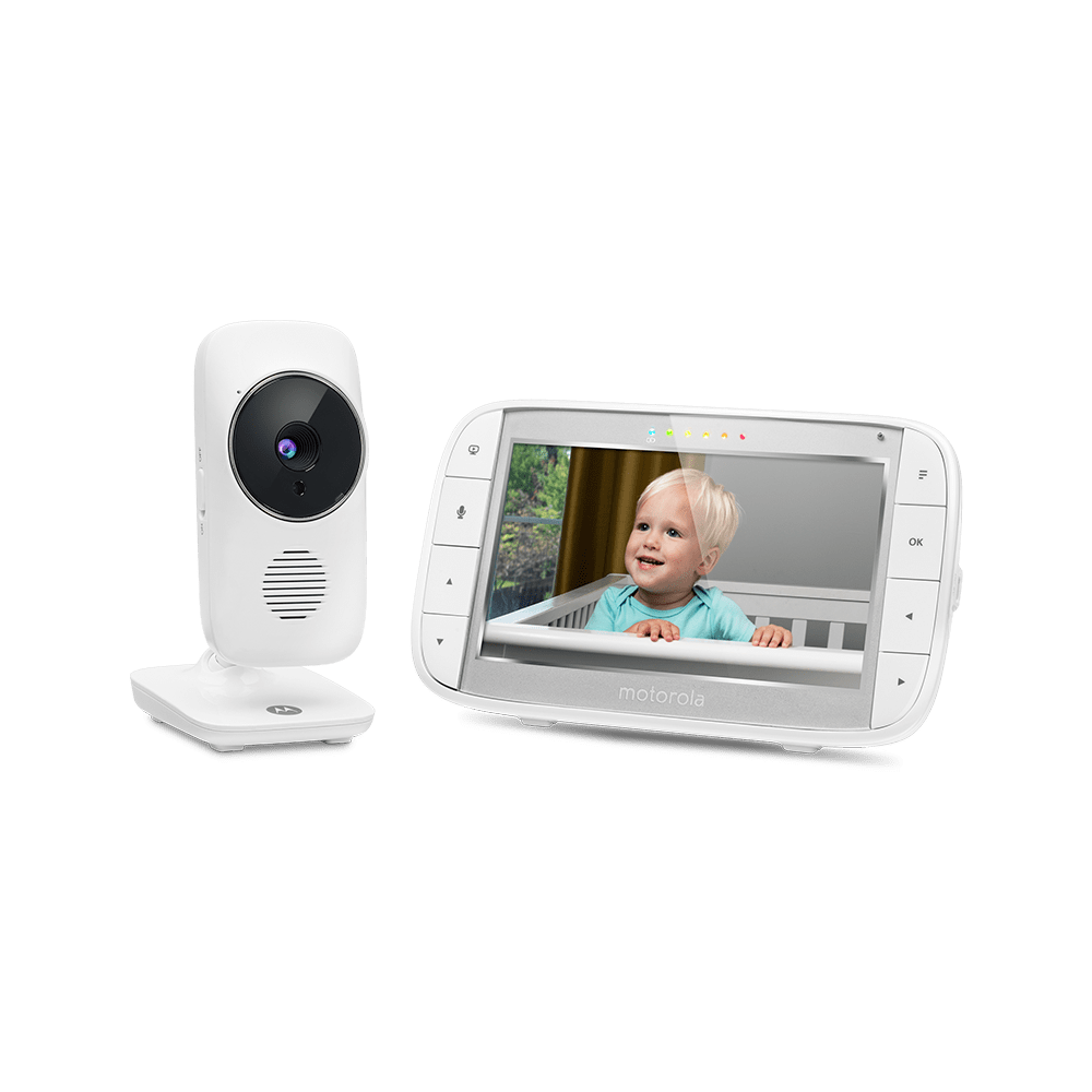 "Motorola MBP480 Digital Video Baby Monitor with 2/"" LCD Display White B+"